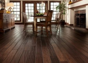 hand-scraped hardwood floors