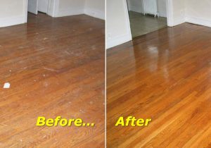 refinish worn hardwood floors